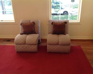Comfy chairs for bedroom or living area.