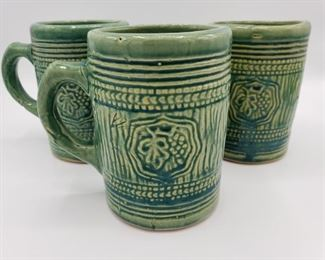 McCoy Pottery Green Grape Mugs https://ctbids.com/#!/description/share/280835