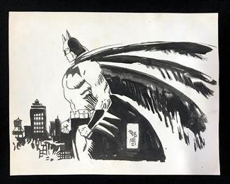 Ink Drawing after BERNET, DC Comics' Batman