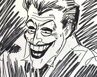 Ink Drawing after Bob KANE, DC Comics' The Joker
