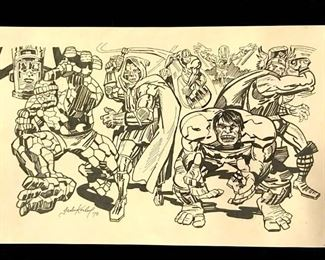 Ink Drawing after Jack KIRBY, Marvel Comics