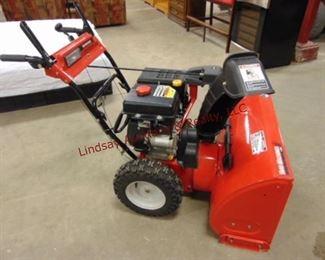 "Yard Machines by MTD 30"" Snow Blower w/ 6 forward, 2 reverse speeds, elec & pull start, 357 cc, gas motor -clean - little use"