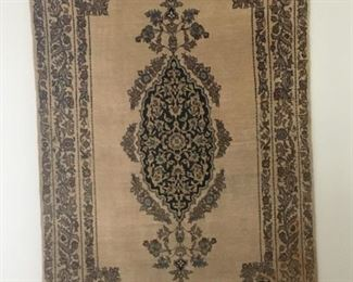 1971 Silk Persian Wall Hanging Rug                               Original Work of Art with Certification                  Purchased in Tehran Iran