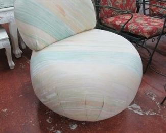 Contemporary Poof Slipper Chair