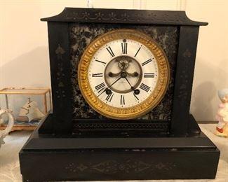 Mantle clock, HEAVY! marble