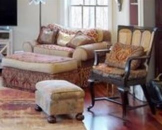 Collage Chair and Ottoman / Ottoman / Arm Chair