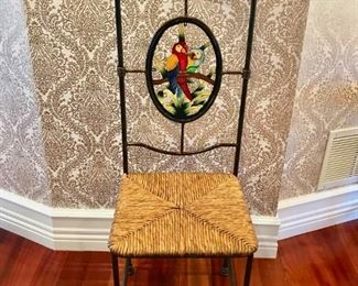 Parrot Back Metal Framed Dining Room / Side Chair (Set of 12)