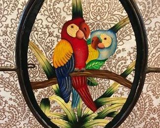 Parrot Back Metal Framed Dining Room / Side Chair Detail (Set of 12)