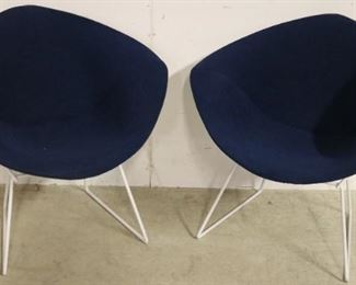 Pair Harry Bertoia Wire Diamond Chairs