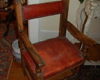One of pair of French Provincial chairs