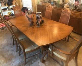 One of two dining sets