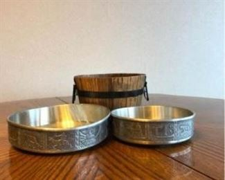 aksel holmsen pewter bowls