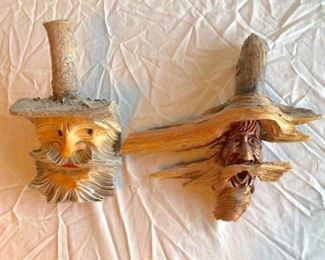 carved wood wall hangings