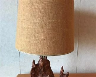 cypress knee lamp