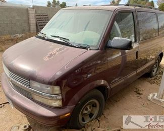 90-2001 Chevrolet Astro Van Year: 2001 Make: Chevrolet Model: Astro Vehicle Type: Van Mileage: {ENTER MILAGE HERE} Plate: {ENTER PLATE NUMBER HERE} Body Type: 3 Door Van; Extended Trim Level: Base Drive Line: RWD Engine Type: V6, 4.3L; 90 deg.; CPI Fuel Type: Gasoline Horsepower: Transmission: VIN #: 1GNDM19W61B102113