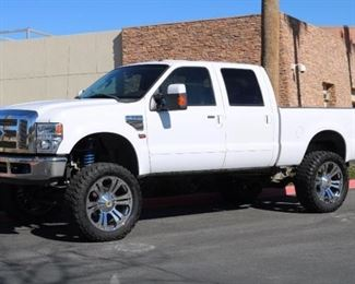 "100: 2008 Ford F-250 with 6.4l Powerstroke Diesel 4x4 CURRENT SMOG!! See Video! Brand new engine and fuel system. both with 1 year warranty. 8"" Pro Comp lift with King shocks front and year. New 24"" Wheels and 37"" tires. $5,000 stereo system with navigation. Mag-Hytec trans pan and rear diff cover. Amp Research Power steps and Banks power system. Cold A/C! DMV registration estimate: $410 and $70 doc fees"