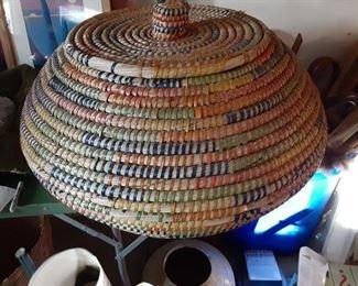 HUGE covered basket