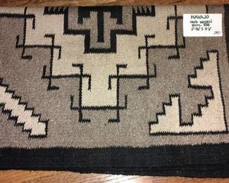 """Navajo hand-woven wool rug, 5'9.5""""x3'6"""""""
