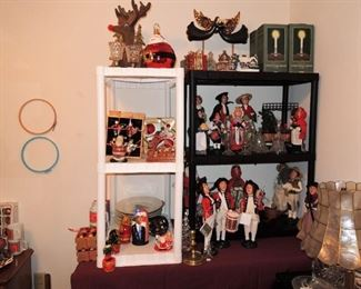 Christmas ornaments and decor, dishes and decorations