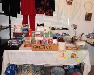 Quilting fabric, sewing fabric, sewing notions and supplies. Embroidery supplies