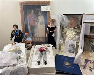 British Royalty Dolls and Other Items