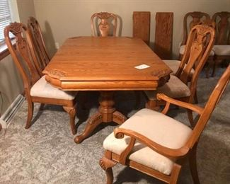 Very Fine Dining Table and Chairs