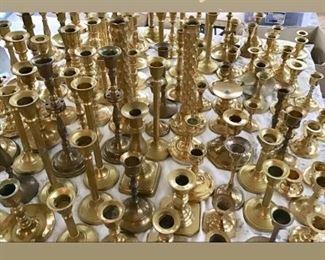 Brass | gold candlesticks