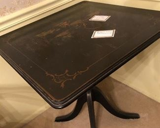 Oriental tilt top table