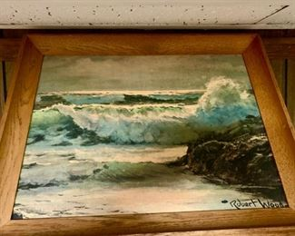 """Origanal Oil Painting by Robert W Wood    """"Surfside"""" *SIGNED* Great Condition"""