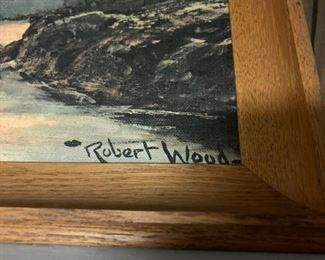 Origanal Oil Painting by Robert W Wood Surfside  *SIGNED*