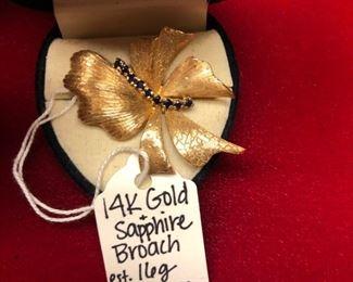 14k Gold & Sapphire