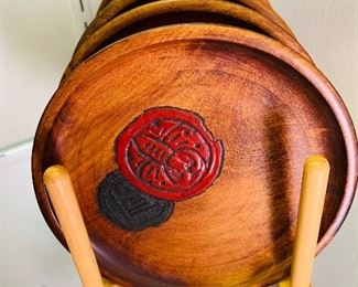 Teak Wood, Oriental Plate Collection