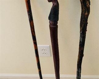 Hand Carved Canes, Walking Sticks