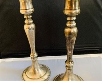Silver Plate Candle Sticks