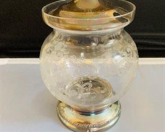 Sterling and Vintage Glass Jar