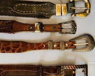 Men's Belts, Sterling Buckles