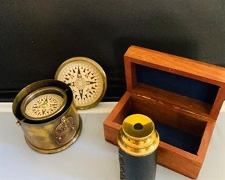 Collectible Compass and Monocular