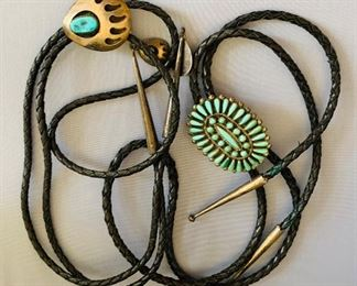 Bolos, Various Styles, Many with Sterling Clasps