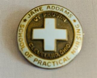 Nursing Pin, Sterling Silver