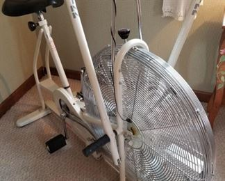 CLASSIC & Mint....Schwinn Air-dyne all white & Chrome Ergometric Exercise bike...This is like a piece of Art!! lol