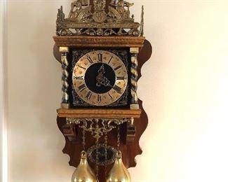 7Vintage Warmink Wuba Zandamma Dutch wall clock $150.00