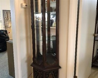 """6Lighted display cabinet 24""""x10""""x70"""" $50.00"""