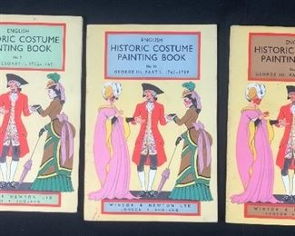 Lot of Historic Costume Painting Books.