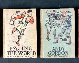 Horatio Alger Books- one lot.