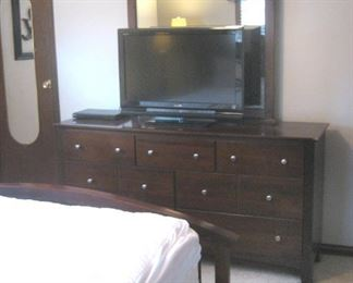 One of 2 Flat Screen TV's