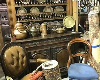 Early country French Pewter cupboard