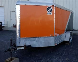 2009 Classic CVT2483TE Enclosed Trailer With Drop Down Door / Ramp, Side Door, Approx 16' L, Harley Motorcycle Trailer, VIN # 10WCV16149W044967