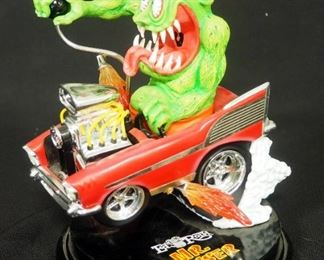 """Danbury Mint Ed """"Big Daddy"""" Roth """"Mr. Gasser"""" Statuette, 1 Chip In Base, 1 Flame Detached"""