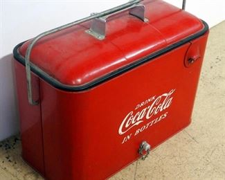 """Two Vintage Metal Coca-Cola Insulated Coolers, Both With Bottle Openers, 13"""" H x 18"""" W x 9"""" D And 13"""" H x 17"""" W x 12"""" D"""