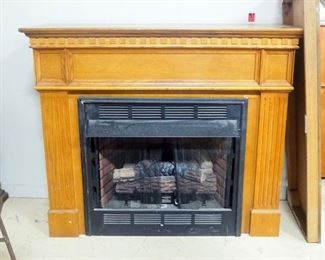 """Desa Heating Products Gas Fireplace Insert Model LGFB32C, With Wood Mantle, Approx 51"""" H, 57.5"""" W x 28"""" D"""